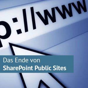 WWW Keine Öffentlichen Websites mehr von SharePoint