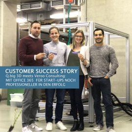 Customer Success Story- Start-up meets #ModernWorkplace at Q.big 3D
