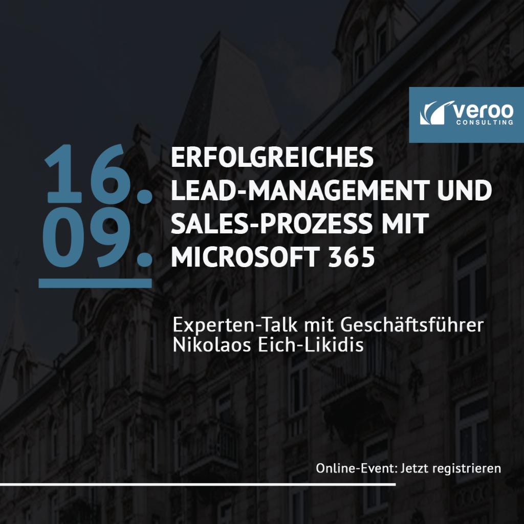 Level Up Teams Event Leadmanagement und Sales Prozess in Microsoft 365 BVMW Veroo Consulting Activ Bilanz Stuttgart